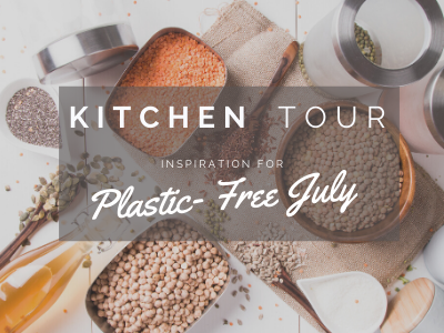 flat lay of plastic free bulk kitchen items