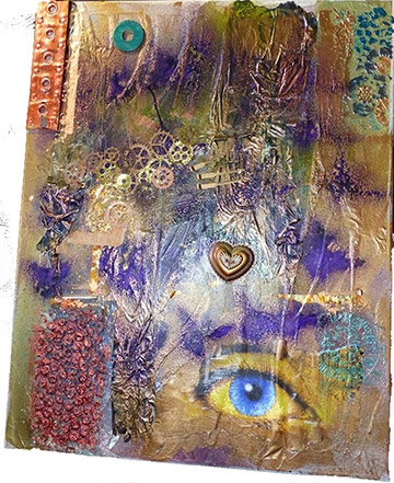 IMAGE: Mixed Media from Recycled Goods by Nikki Proctor