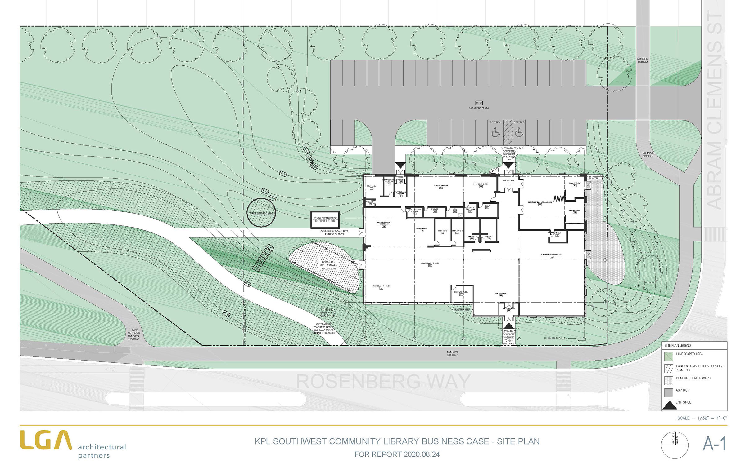 Southwest Community Library site plan